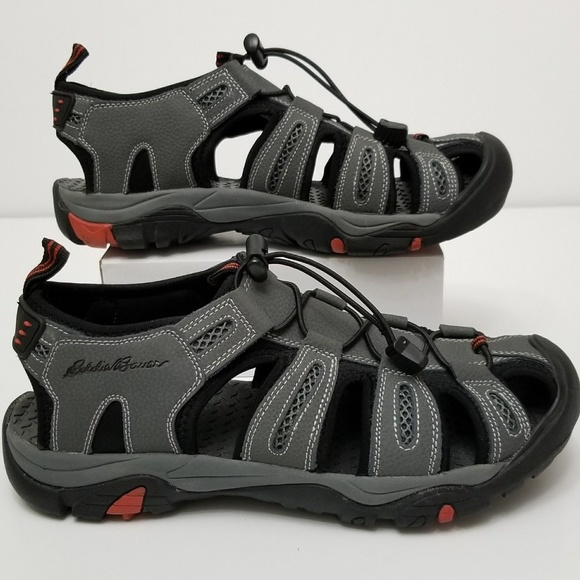 233d12fb9bd9 Eddie Bauer Other - Eddie Bauer Grey Fisherman Bump toe Cinch Sandals